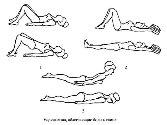 Гимнастика на спине