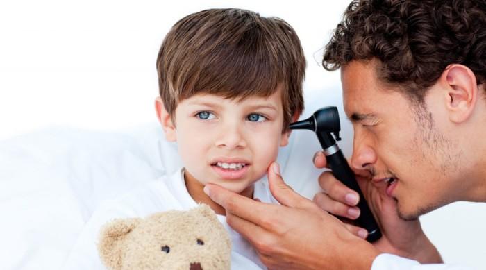 Воспаление наружнего уха у ребенка