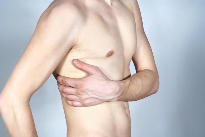 Боль под грудью